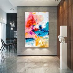 Extra Large Wall Art on Canvas, Original Abstract Paintings , Contemporary Art, Mdoern Living Room Decor ,Office Oversize Artworks