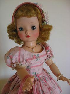 Madame Alexander Vintage Cissy in Tagged Pink Floral Dress
