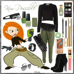 """""""Kim Possible"""" by silveranthrax on Polyvore... may end up being Kim Possible for a Halloween"""