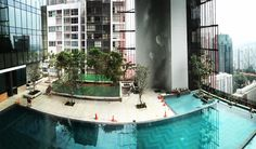 #panoramic view of #swimmingpool #skydeck at #ps100 #oasiadowntown #singapore - #wideopenspaces #breathingarchitecture #skyterrace #skygarden #permeable #mesh #facade #highrise #mixeduse #hotel #hospitality #architecture #underconstruction #design #green #sustainable #woha by woha_architects