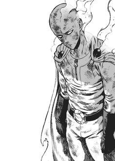 One punch man Opm Manga, Manga Anime, Manga Art, Punch Manga, One Punch Man Manga, Anime Drawings Sketches, Anime Sketch, Caped Baldy, Character Art