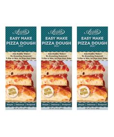 Another great find on #zulily! Easy-Make Pizza Dough Mix - Set of Three by A Tavola Together #zulilyfinds