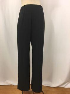 Sympli Pants Womens 6 Black Stretchy Pull On  #Sympli #CasualPants