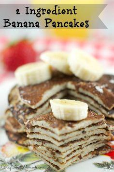 2 Ingredient Banana Pancakes
