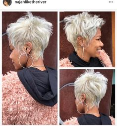 Gray Wigs African Americans Black And Grey Wig Short White Cosplay Wig - Short hair cuts - Gray Wigs African Americans Black A. Grey Wig, Short Grey Hair, Short Hair Wigs, Short Hair Cuts For Women, Short Cuts, Funky Hairstyles, Wig Hairstyles, Sassy Haircuts, Hairstyles Videos
