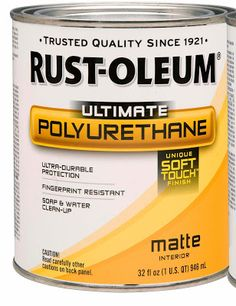 Get the strength of polyurethane—with a smudge-resistant finish—with Rust-Oleum® Wood Care Ultimate Polyurethane with Soft Touch. This water-based formula is as hard and durable as traditional polyurethane but features a unique, softer texture. Painted Furniture, Diy Furniture, Refinished Furniture, Furniture Refinishing, Furniture Makeover, Furniture Plans, Rehabbed Furniture, Armoire Makeover, Weathered Furniture
