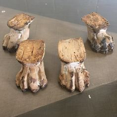 Vintage Wood Claw Feet Set of 4 Great for Repurposing by RetroResaleSanDiego on Etsy