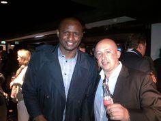 Samen met Wereld -en Europees kampioen voetbal Patrick Vieira bij de Europa League finale