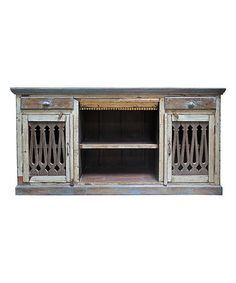 Look what I found on #zulily! Blue Reclaimed Wood Credenza #zulilyfinds