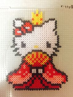 Hello Kitty Hinamatsuri perler beads
