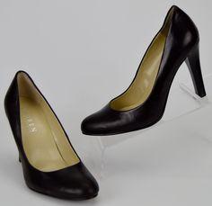 Lauren Ralph Lauren Zamora Women's Size 5 M Black Leather Heels #LaurenRalphLauren #PumpsClassics #WeartoWork