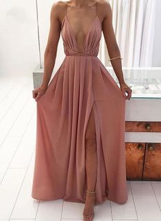 Cassandra Chiffon Pleated Open Back Criss Cross Strappy Slit Long Maxi Dress Open Back Dress, Chiffon Dress Fashion Dresses 2019 Grad Dresses, Ball Dresses, Sexy Dresses, Dress Outfits, Evening Dresses, Fashion Dresses, Chiffon Dresses, Dress Prom, Mauve Prom Dress