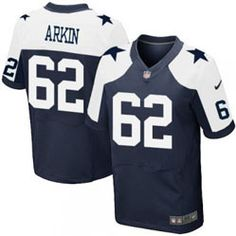 78.00--David Arkin Throwback Elite Jersey - Nike Stitched Dallas Cowboys   62 Jersey 369c193af