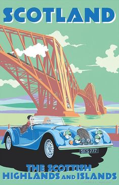 Scotland, Car posters and Vintage cars on Pinterest