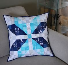 From K - Finished Snowflake Pillow