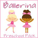 Ballerina Preschool Pack - Linked to a site with so many themed preschool printable packs! Activities for math, literacy and more!