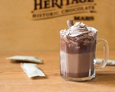 Check out this Chocolate Hazelnut and Vanilla Cocoa recipe, and other great recipes, from American Heritage Chocolate! chocolate #recipes #MC #sponsored