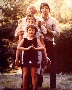 James Paul McCartney and his family