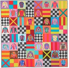 Day at the Races Melbourne Cup quilt Pattern - @quiltjane from 'Desert to Sea, 10 quilts from Australian Designers'  #patchwork #quliting #paperpiecing
