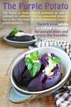 Purple Potato ~ delicious & so much better for you!