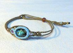 Labradorite macrame Bracelet - nica Stone & Accessory