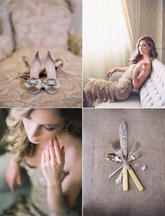 Top right photo / posing is so loveable.  Not to mention all the other details from this oncewed.com wedding