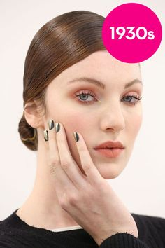 Skip the tricky liquid liner and sweep on a flattering shade of bronzy pink shadow across your lids and along the lower lash line. Then add two coats of mascara to curled lashes for a defined, yet soft appeal.