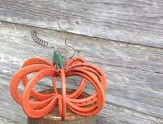 FREE SHIP  Horse shoe pumpkin made from by FaithAndJordan on Etsy