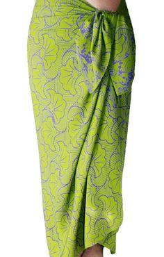 Beach Sarong Batik Pareo Lime Green & Purple Gingko Sarong Skirt Women's Beach CoverUp Green Batik Sarong Beach Wrap Skirt - Womens Swimwear by PuaWear on Etsy