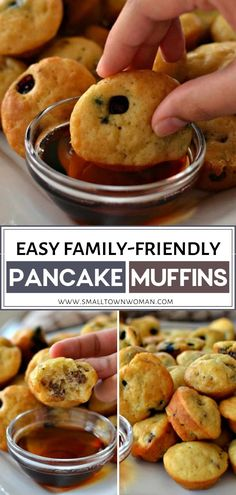 Best Breakfast Recipes, Brunch Recipes, Yummy Recipes, Dessert Recipes, Pancake Muffins, Pancakes Easy, Easy Family Meals, Quick Easy Meals, Desert Recipes