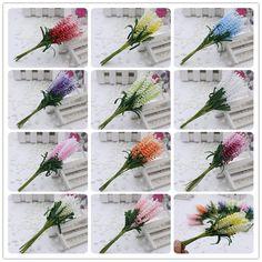 2016 baru 10 pcs/lot DIY Karangan Bunga buatan bunga lavender PE pengantin wrist bunga pernikahan bunga dekorasi rumah bunga Palsu