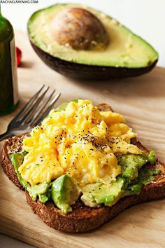 Eggs on avocado toast