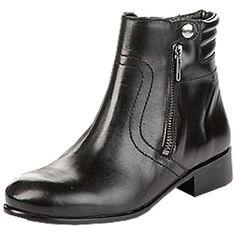 Schwarze #Stiefeletten mit #Glanzoptik ab 129,90€ ♥ Hier kaufen: http://stylefru.it/s231276 #buffalo #schuhe #schwarz #boots