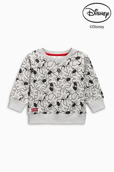 Buy Grey All Over Print Mickey Crew Top from the Next UK online shop Latest Fashion For Women, Mens Fashion, Kids Fashion Boy, Mickey And Friends, Fashion Graphic, Next Uk, Tween, Kids Boys, Style Icons
