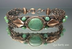 Woven Turquoise Bracelet Tutorial - $15.00 : LB Jewelry Designs, Uniquely Beautiful Handcrafted Jewelry