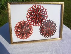 celtic flowers framed tatted celtic flowers orange and by MamaTats, $25.00