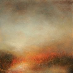 "ARTFINDER: Moment by Kerr Ashmore - From the series ""Somewhere in Reverie"" this atmospheric, warming abstract landscape is painted on a quality, deep edge, 100% cotton canvas.  I have much lov..."