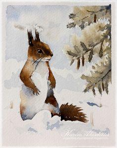 Sunday Watercolors - WOOHOO - I kept my New Year's Resolution!!!
