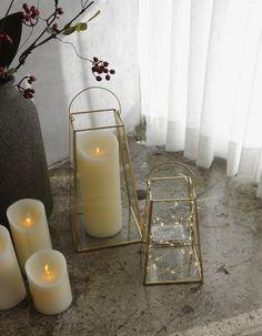 Argent antique métal coeur gem jewel votives de verre blanc bougie coffret cadeau