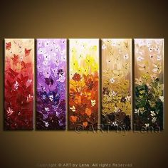 painting for beginners acrylic  | Acrylic Painting For Beginners | Flower art : Field Flowers painting ...