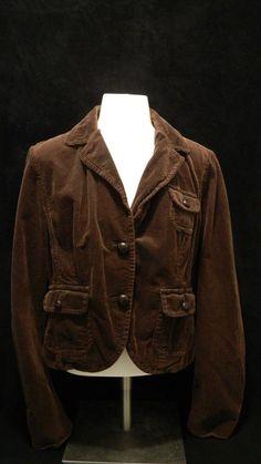 3bf03ce42 Ralph Lauren Polo Jeans Women Corduroy 100% Cotton Blazer Jacket Dark Brown  Sz L  RalphLauren  BasicJacket