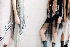 Netting at the Rodarte Spring 2015 collection
