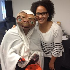 "@Stacey Carr's photo: ""Halloween at work! #halloween #phonehome #ET"""