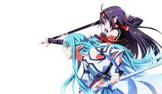 Asuna and Yuuki Wallpaper and Background Image Arte Online, Kunst Online, Online Art, Sword Art Online Yuuki, Sword Art Online Meme, Desenhos Love, Accel World, Online Anime, Asuna