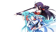 Anime - Sword Art Online II Yuuki Konno Asuna Yuuki Wallpaper