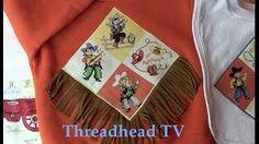 Great project for a beginner sewist or first-time applique because the lines are straight. Could do without the fringe and would still be super cute - use a background fabric of hankerchief fabric and let raw edges fray - easier and still as charming. Michael Miller fabric. ~Threadhead TV - YouTube