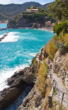 The hiking trail from Vernazza and Monterosso, Cinque Terre, Italy