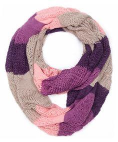 Look at this #zulilyfind! Fuschia & Purple Color Block Infinity Scarf by Jasmine #zulilyfinds
