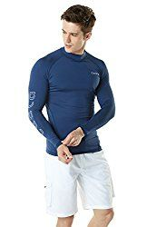Tesla Men's UPF Long Sleeve Rashguard up swim kit Swimming Kit, Rash Guard Swimwear, Man Up, Latest Mens Fashion, Snug Fit, 3 D, Long Sleeve, Pin Curls, Sleeves