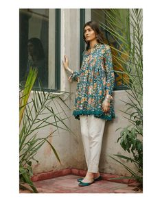 Our signature florals are a must have this Eid. Reminiscent of yesteryear, these ethnic ensembles are the perfect way to celebrate our… Pakistani Fashion Casual, Pakistani Dress Design, Pakistani Outfits, Indian Fashion, Pakistani Frocks, Frock Fashion, Girl Fashion, Fashion Outfits, Fashion Wear